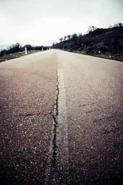 road streets broken mark